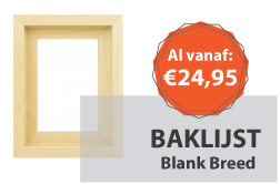 Baklijst Blank Breed